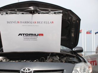 Триботехнологию «Супротек» под брендом «Atomium» представили на мотор-шоу в Риге [фотогалерея]
