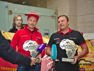 В Петербурге встретили призёров ралли-марафона Africa Eco Race [фото и видео]
