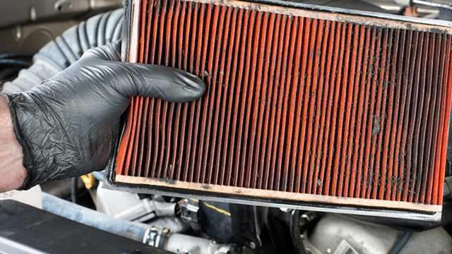 загрязнение воздушного фильтра